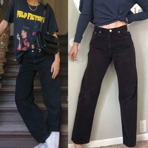 Vintage Calvin Klein black high waist jeans
